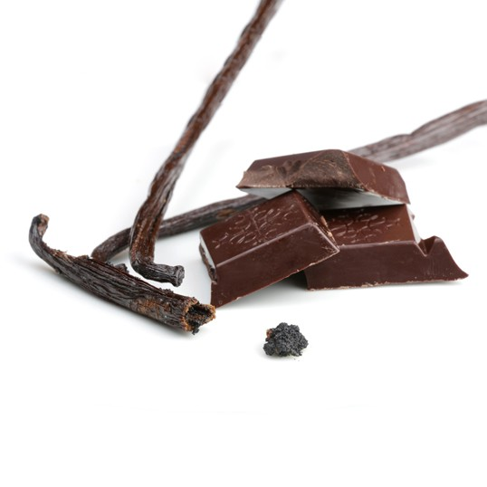 Tablette au chocolat et à la vanille