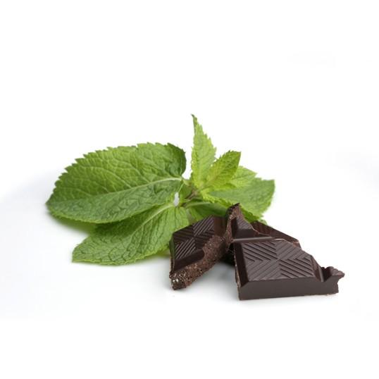 Tablette de chocolat noir et menthe