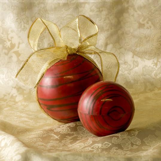 Boule de Noël ((petit modèle) version rouge