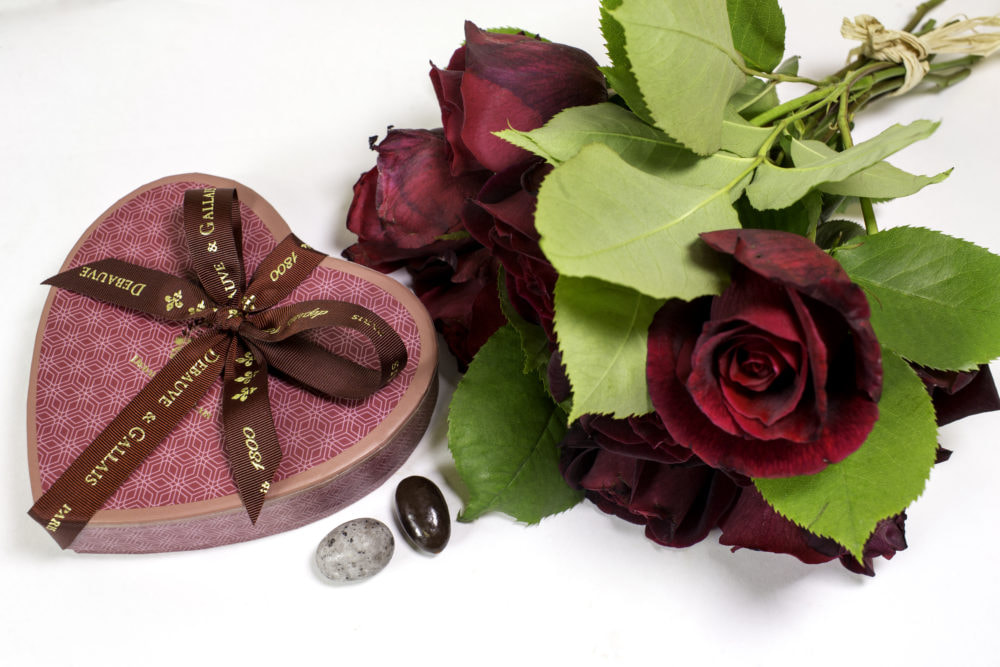 boite de chocolats en forme de coeur